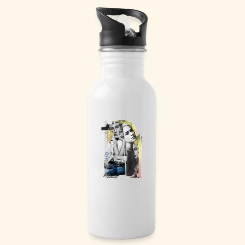 Urbano - Botella cantimplora con pajita integrada