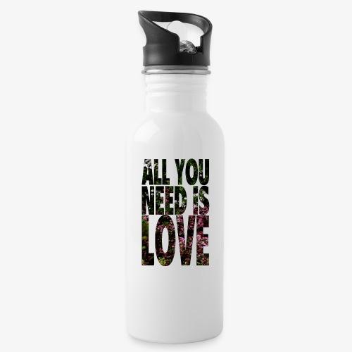 All You need is love - Bidon z wbudowaną słomką