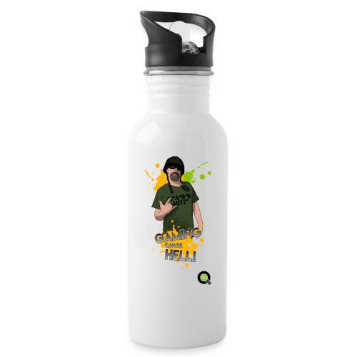 Tshirt Design 1 png - Water bottle with straw