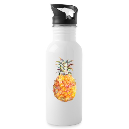 Piña tropical - Botella cantimplora con pajita integrada