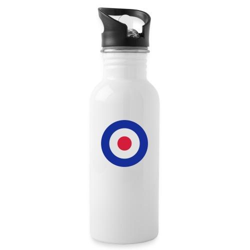 Mod Target - Trinkflasche mit integriertem Trinkhalm