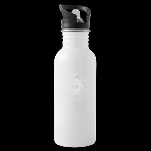 Basaltshopptasche - Trinkflasche mit integriertem Trinkhalm