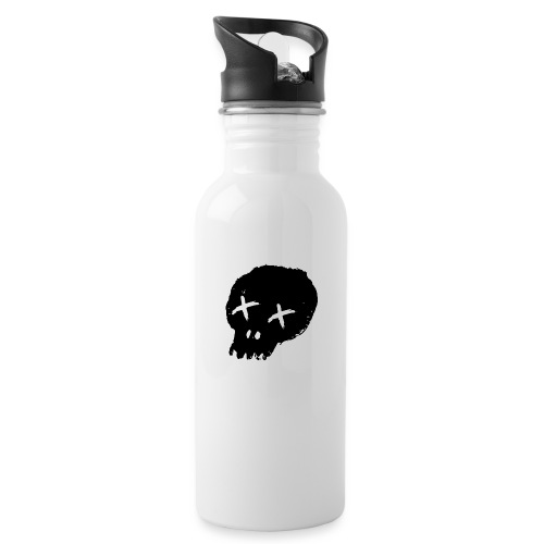 blackskulllogo png - Water bottle with straw