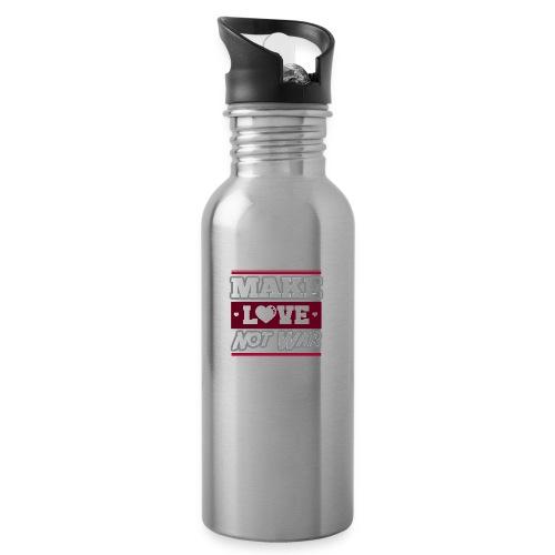 Make_love_not_war by Lattapon - Drikkeflaske med integreret sugerør
