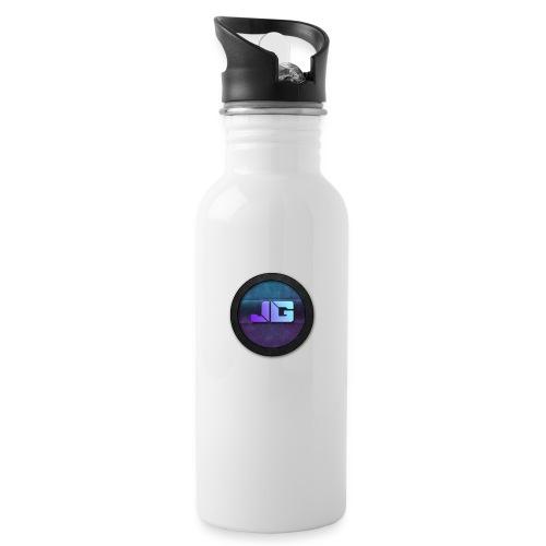 Pet met Logo - Drinkfles met geïntegreerd rietje
