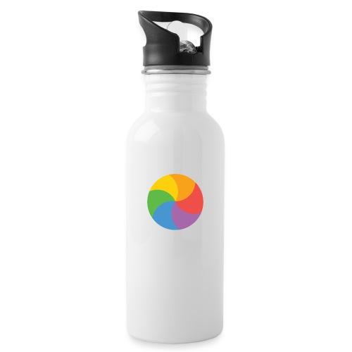 BeachBal - Drinkfles met geïntegreerd rietje