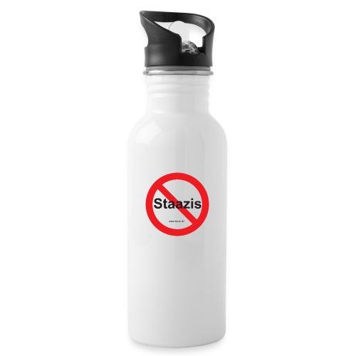 Staazis Verboten - Trinkflasche mit integriertem Trinkhalm
