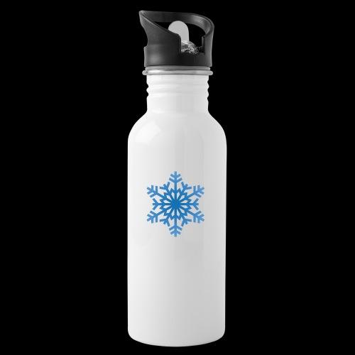 Snowflake - Drikkeflaske med integreret sugerør