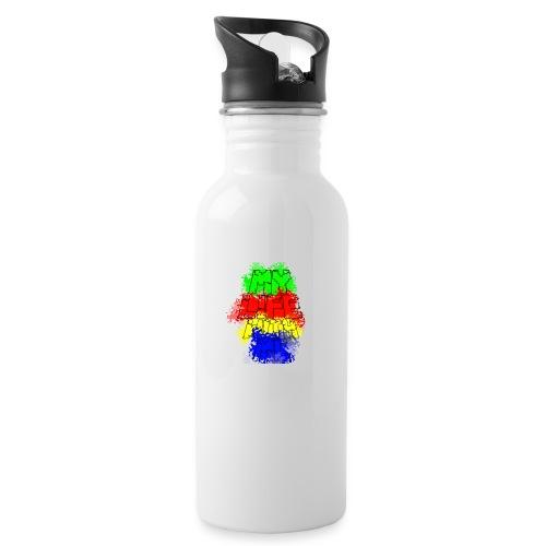Den Officielle My Life With Minecraft Logo - Drikkeflaske med integreret sugerør