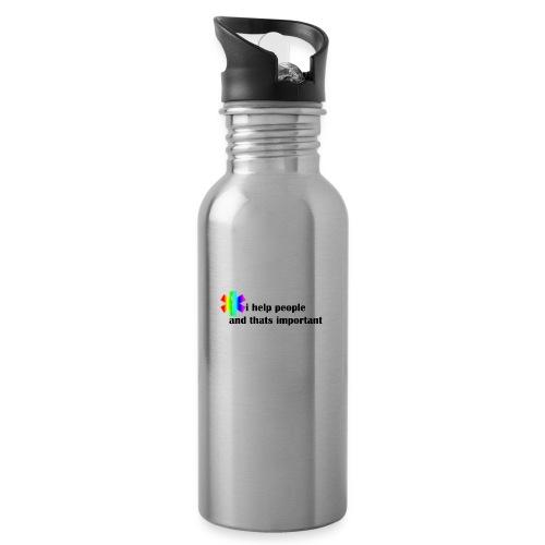 i help people - Drinkfles met geïntegreerd rietje