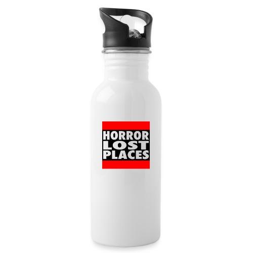 Horror Lost Places - Trinkflasche mit integriertem Trinkhalm