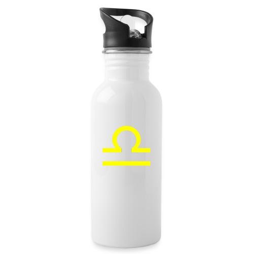 Waage - Trinkflasche mit integriertem Trinkhalm