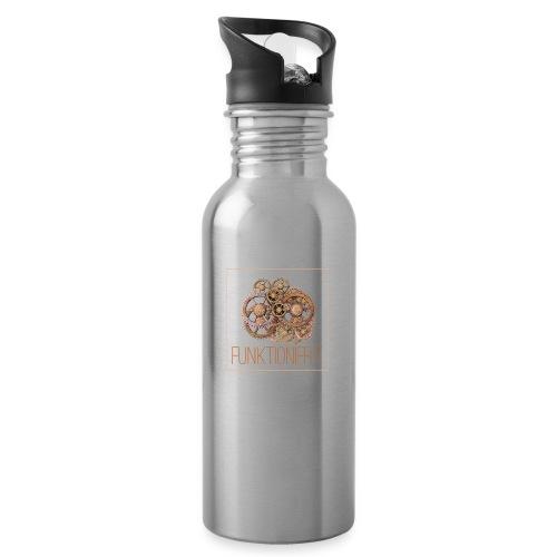 Zahnräder shirt - Trinkflasche mit integriertem Trinkhalm
