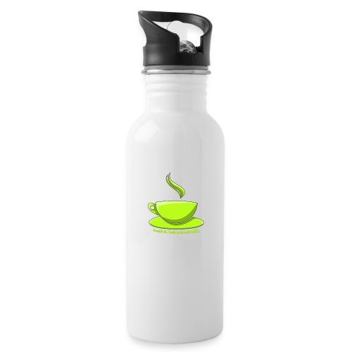 Manuccino - Trinkflasche mit integriertem Trinkhalm