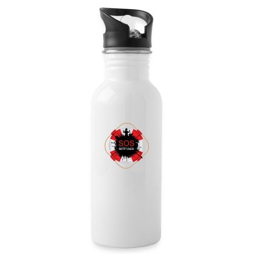 SOS NOTP CREW - Drinkfles met geïntegreerd rietje