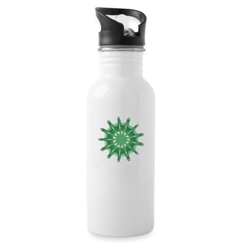 grünes Steuerrad Grüner Seestern 9376alg - Trinkflasche mit integriertem Trinkhalm