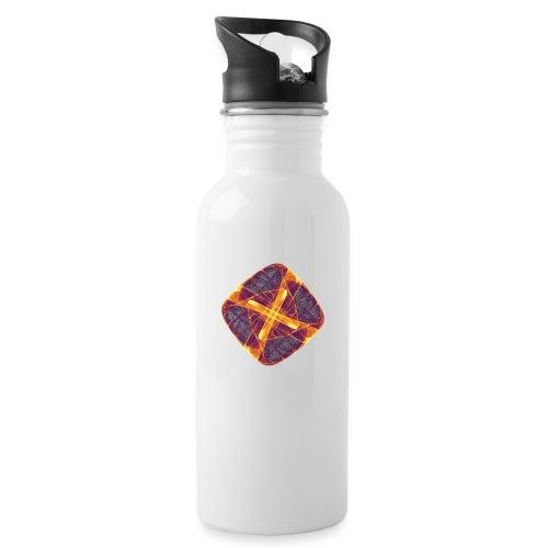 Chakra Mandala Mantra OM Chaos Star Circle 12255i - Water bottle with straw