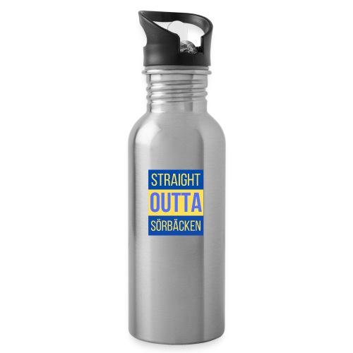 Straight outta Sörbäcken - Vattenflaska med integrerat sugrör