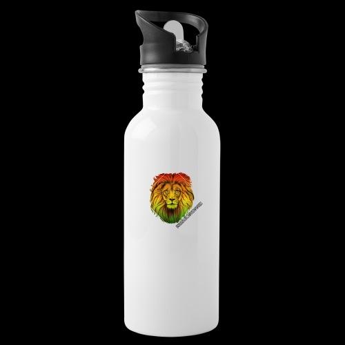 LION HEAD - UNDERGROUNDSOUNDSYSTEM - Trinkflasche mit integriertem Trinkhalm