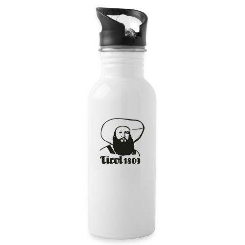 Andreas Hofer Silber1 - Trinkflasche mit integriertem Trinkhalm