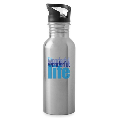 It's a wonderful life blues - Water bottle with straw