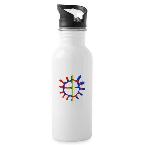 Samisk sol - Drikkeflaske med integrert sugerør