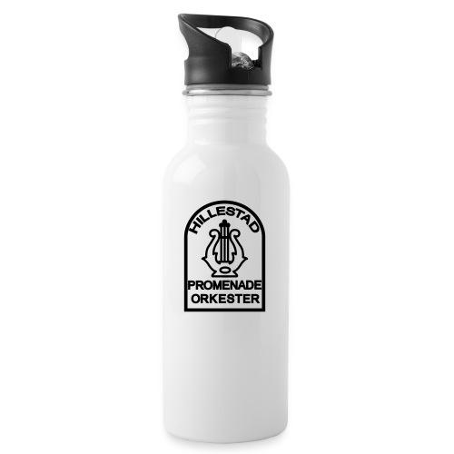 logo 6cm - Drikkeflaske med integrert sugerør