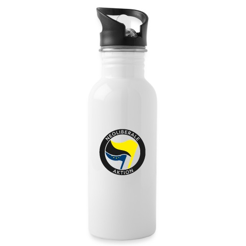 Neoliberale Aktion (EU) - Trinkflasche mit integriertem Trinkhalm