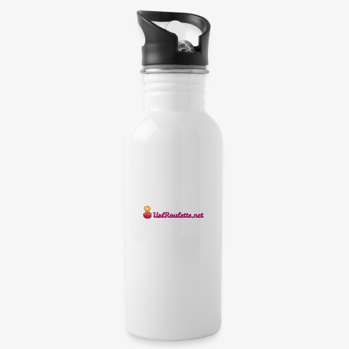 UrlRoulette Logo - Water bottle with straw
