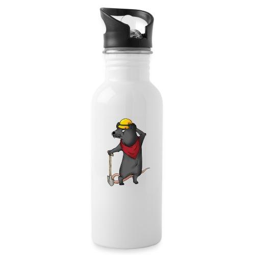Arbeiter Ratte - Trinkflasche mit integriertem Trinkhalm