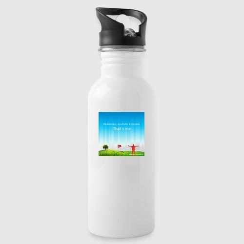 Rolling hills tshirt - Drikkeflaske med integreret sugerør