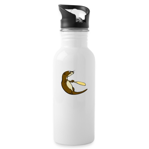 Classic Song of the Paddle otter logo - Water bottle with straw