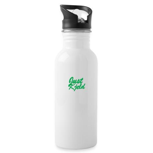 JustKjeld - Drinkfles met geïntegreerd rietje