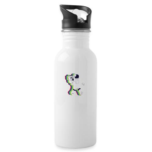 Astronaut - Trinkflasche mit integriertem Trinkhalm