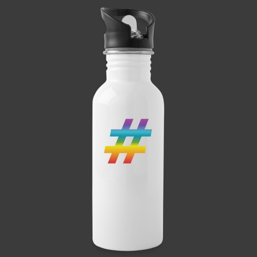 rainbow hash include - Water bottle with straw
