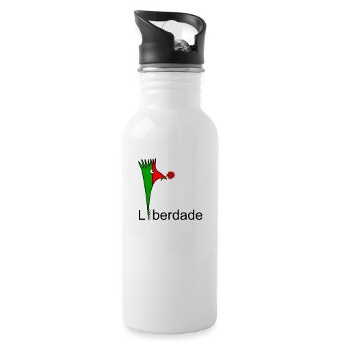 Galoloco - Liberdaded - 25 Abril - Trinkflasche mit integriertem Trinkhalm
