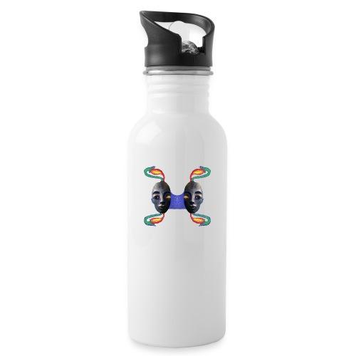 Nofretete - Trinkflasche mit integriertem Trinkhalm