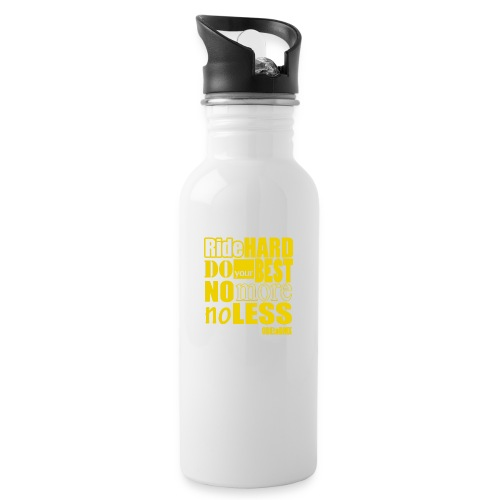 ridehard yellow - Water bottle with straw