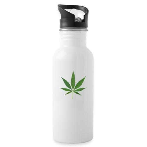 2000px-Cannabis_leaf_2 - Drikkeflaske med integreret sugerør