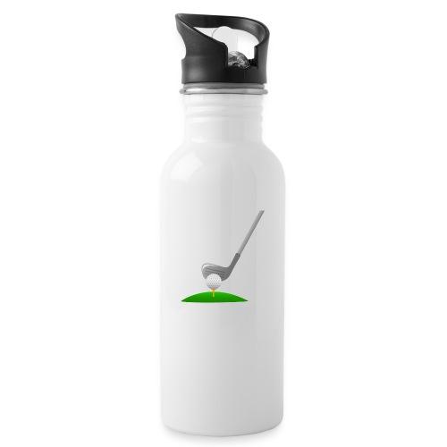 Golf Ball PNG - Botella cantimplora con pajita integrada