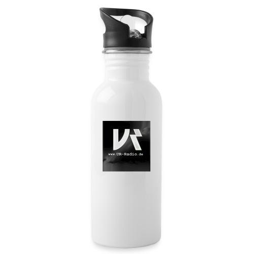 logo spreadshirt - Trinkflasche mit integriertem Trinkhalm