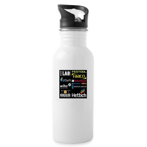 tshirt 2 rueck kopie - Water bottle with straw