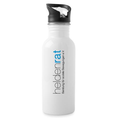 heldenrat_logo_rz - Trinkflasche mit integriertem Trinkhalm