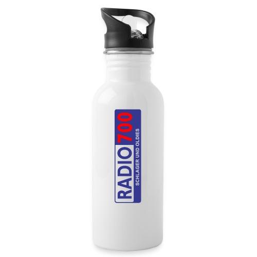 schlagerundoldies - Trinkflasche mit integriertem Trinkhalm