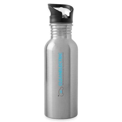 cleanelectric schriftzug 3k png - Trinkflasche mit integriertem Trinkhalm