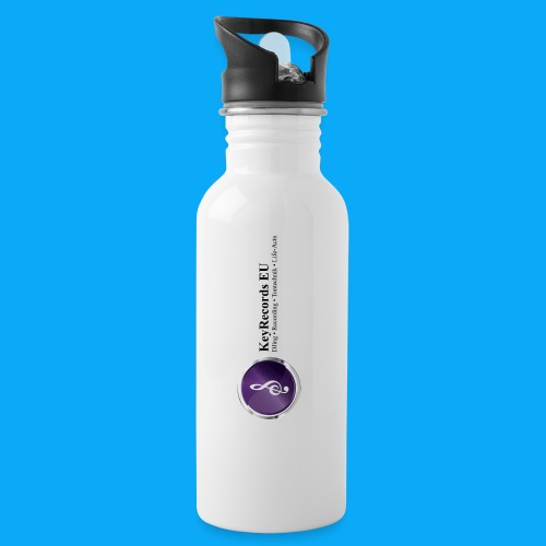 Logo KeyRecords EU - Trinkflasche mit integriertem Trinkhalm