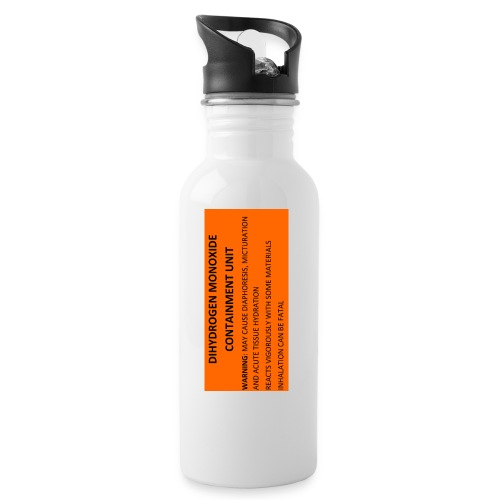 Water safety label - Water bottle with straw