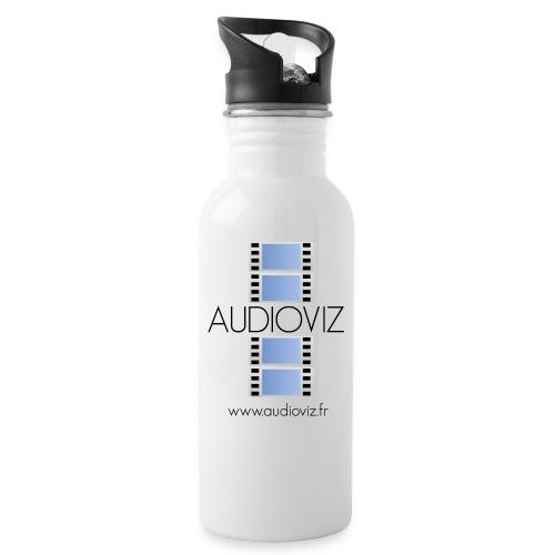 Logo Audioviz - Gourde avec paille intégrée