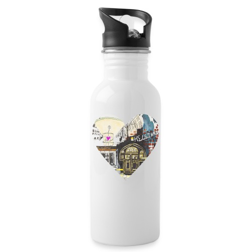 helsinkiheart png - Water bottle with straw