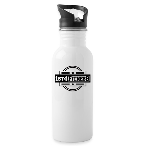 1st4Fitness black - Water bottle with straw